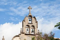 A Church Bell Tower in Las Palmas de Gran Canaria. Spain Stock Images