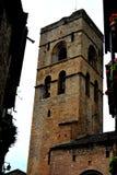 Church Bell Tower in Aínsa, Spain Royalty Free Stock Photos