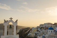 Church bell tower, Oia, Santorini, Greece Stock Photo