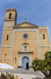 Church and bell tower in the old town of Altea Royalty Free Stock Photography