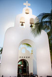 Church bell tower in Playa del Carmen Stock Photo