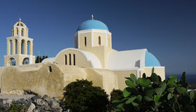 Church and bell tower, Santorini Royalty Free Stock Photos