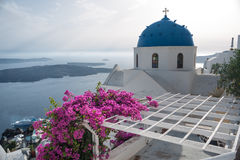 Church and bell tower on Santorini Island, Greece Stock Photography