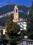 Church bell tower, Tremezzo, Italy. Royalty Free Stock Images