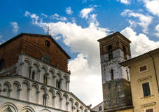 Church and bell tower: Tuscany art Stock Photos