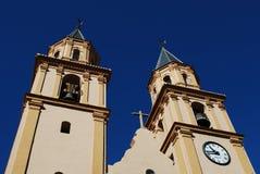 Church bell towers, Orgiva, Spain. Stock Photos