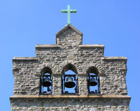 Church Bells. Onthe roof of a Bronx house of worship Stock Photos