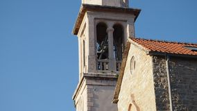 Church bells stock footage