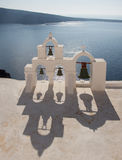 Church bells in Imerovigli Santorini Island, Greece Royalty Free Stock Photos