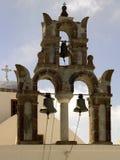 Church Bells - Island of Santorini - Greece Stock Photos
