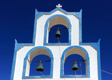 Church Bells - Santorini in Greece Stock Images