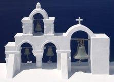 Church Bells - Santorini In Greece Stock Image