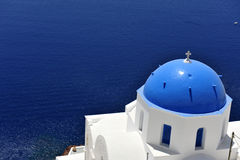 Church bells on Santorini island Royalty Free Stock Photos