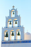 Church with bells in Santorini Royalty Free Stock Photography