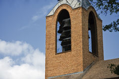 Church Bells. On a Steeple royalty free stock image