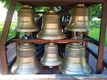 Church bells. Ukraine . The Sophia Cathedral. Church bells in the Sophia Cathedral Ukraine , Kiev in a park in autumn stock photo