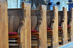Church bench Royalty Free Stock Images