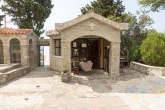 Church bench in Monastery Rezevici in Montenegro Stock Image