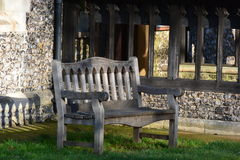 Church bench Stock Photos