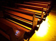 Church benches Stock Images