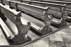 Church benches Royalty Free Stock Photos