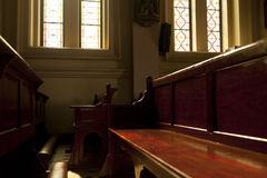 Church benches. Stock Images