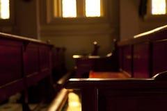 Church benches. Stock Photos
