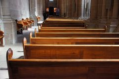 Church Benches Royalty Free Stock Images