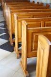 Church benches Stock Photos