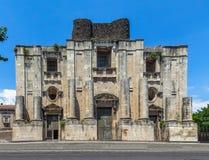 Church and Benedictine Monastery of Saint Nicholas Arena - Catania Sicily Italy Royalty Free Stock Image
