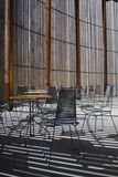 Church in berlin. tables and chairs. Stock Image
