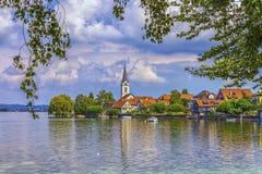 Church in Berlingen, Thurgau, Switzerland Stock Image