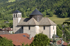 Church of Bernex in French Alps royalty free stock image