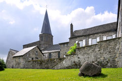 Church of Besse en Chandesse in France Stock Photography