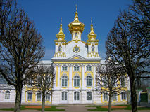 Church of the Big Palace, Peterhof, Russia Stock Photos