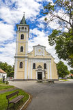 Church of the Birth of Our Lady in Michalovce, Slovakia. Church of the Birth of Our Lady & x28;Slovak: Chram Narodenia Panny Marie& x29; in Michalovce city Stock Photo