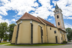 Church of the Birth of Our Lady in Michalovce, Slovakia. Church of the Birth of Our Lady & x28;Slovak: Chram Narodenia Panny Marie& x29; in Michalovce city Stock Photos