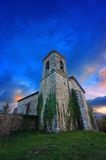 Church in Bitoriano at sunset Royalty Free Stock Images