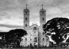 Church black and white gothic style Stock Photos