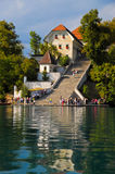 Church on Bled Lake Royalty Free Stock Image