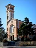 Church of the Blessed Sacrament - La Falda. The Blessed Sacrament Parish in La Falda, Córdoba, Argentina Stock Image