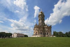 Church of the Blessed Virgin in Dubrovitsy Stock Images