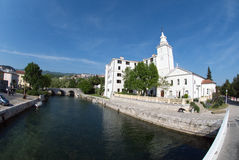Church of blessed virgin mary in Crikvenica,Croatia royalty free stock image