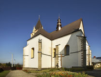 Church of the Blessed Virgin Mary in Lesko. Poland Royalty Free Stock Image