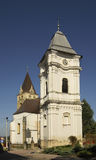 Church of the Blessed Virgin Mary in Lesko. Poland Stock Photo