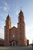 Church of Blessed Virgin Mary in Lukow. Poland Stock Photos