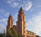 Church of Blessed Virgin Mary in Lukow. Poland Stock Photo