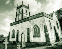 Church of The Blessed Virgin Mary South East Facade HDR BW Royalty Free Stock Photos