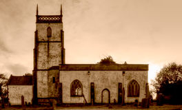 Church of The Blessed Virgin Mary South Facade HDR sepia 2 Royalty Free Stock Photo