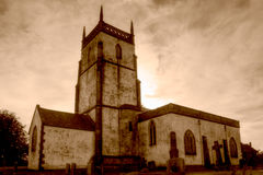 Church of The Blessed Virgin Mary South Facade HDR sepia Stock Photos